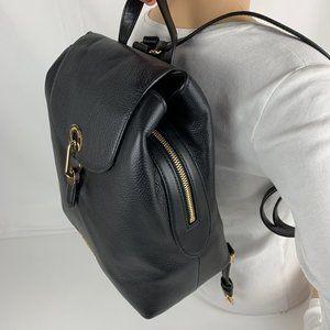 New Michael Kors Raven Leather Medium Backpack
